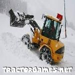 Tractor Snow Storm